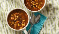 Black Bean Vegetable Soup- Warm up on a chilly day with this hearty soup Bean And Vegetable Soup, Healthy Holiday Recipes, Budget Meals, Budget Recipes, Dessert For Dinner, Nutrition Education, Soups And Stews, Fish Recipes, Cooking Recipes