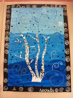 Arbres en art visuels CP et CE1 - Véro à l'école Magritte, Under The Sea Crafts, Classe D'art, Creation Art, Ecole Art, Window Art, Arts Ed, Art Graphique, Gustav Klimt