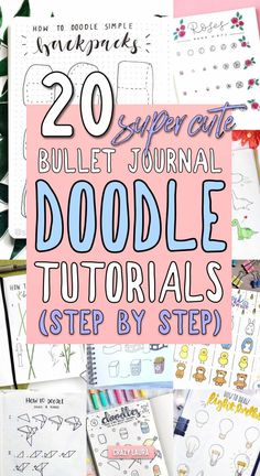 Step By Step Bullet Journal Doodle Tutorials - Crazy L.-Step By Step Bullet Journal Doodle Tutorials – Crazy Laura - Doodle Bullet Journal, Bullet Journal Inspiration, Bullet Journal With Stickers, Journal Ideas, List Of Bullet Journal Pages, Bullet Journal Tools, Bullet Journal Savings, Bullet Journal Travel, Bellet Journal
