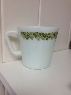 A personal favorite from my Etsy shop https://www.etsy.com/listing/239975224/vintage-pyrex-crazy-daisy-mugcup
