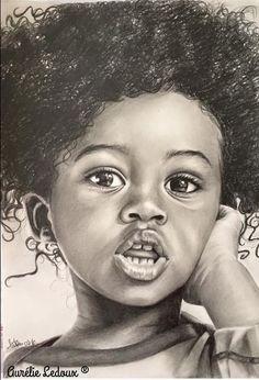 70 ideas for hair drawing girl realistic Art Black Love, Black Girl Art, Art Girl, Portrait Au Crayon, Portrait Art, Portraits, African American Art, African Art, Black Girl Cartoon