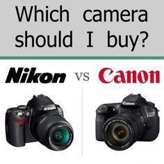 Buying a DSLR Canon vs. Nikon - Which camera should I buy? #nikon #canon #overthebigmoon
