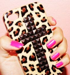 Brown Leopard Stud iPhone 5 Case for Girls