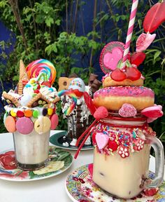 Unique Desserts, Cute Desserts, Delicious Desserts, Fun Drinks, Yummy Drinks, Yummy Food, Dessert Kawaii, Real Baking, Milkshake Recipes