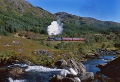 The Jacobite Steam Train, Fort William to Mallaig (Scottish highlands) - if it's good enough for Harry Potter then it's good enough for me!