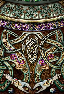 Celtic Interlace Dragons