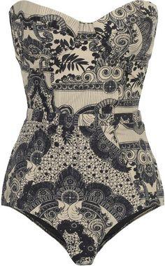 Zimmermann Collision Underwired Printed Swimsuit - Lyst