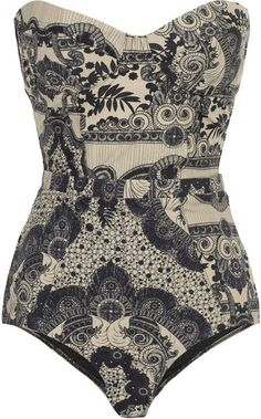 Zimmermann Collision Underwired Printed Swimsuit. This is gorgeous. Unfortunately for me, it's $325.