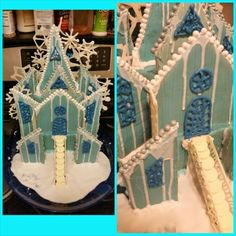 #Frozen gingerbread house.