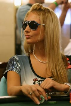 A woman in a poker room is about as common as a woman at a Rush concert. Vanessa Rousso, Poker, Vegas Casino, Casino Bonus, Round Sunglasses, Beautiful Women, Sexy, Hot, Girls