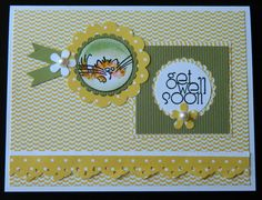 NEW - GET WELL SOON WISHES FLUFFLES Greeting Card by ME Kitty Cat blank inside