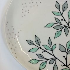 Large Serving Platter / Branches + Stars by krystalspeck