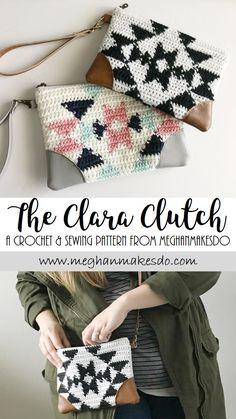 crochet pattern, wristlet pattern, pouch pattern, sewing pattern, diy crochet clutch, diy tapestry crochet