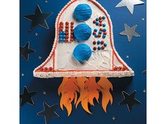 Rocket ship cake how to