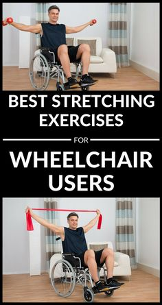 Best Stretching Exercises For Wheelchair Users #wheelchair #stretching #exercises #workout Stretches For Workouts, Best Stretching Exercises, Chair Exercises, Easy Workouts, At Home Workouts, Exercise Workouts, Workout Machines, Fitness Machines, Fitness Nutrition