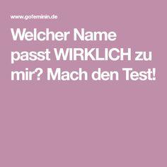 Welcher Name passt WIRKLICH zu mir? Mach den Test!