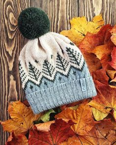 Fair Isle Knitting Patterns, Knitting Stitches, Knitting Designs, Knit Patterns, Free Knitting, Beanie Knitting Patterns Free, Fair Isle Pattern, Crochet Beanie Hat, Knitted Hats
