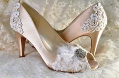 Wedding Shoes Women's Wedding Shoes Bridal Shoes by Pink2Blue