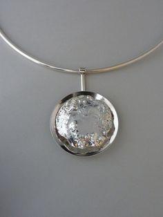 Pendant, reticulated silver, Anita Braat-Hopstaken, Passions Jewellery Design