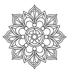 Mandala Painting Art Drawing Dot Design Adult Coloring Books Colouring Cool Projects Print