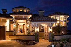 tuscan style homes | Mediterranean Tuscan Style Home/House | Dream ...