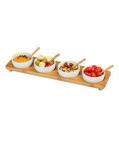 Take a look at this Bamboo Serving Platter & Bowl Set by Picnic at Ascot on #zulily today!