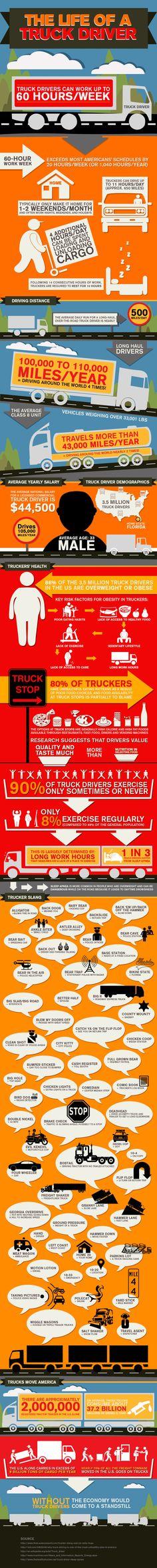 Driver Life Infographic - NextTruck Online