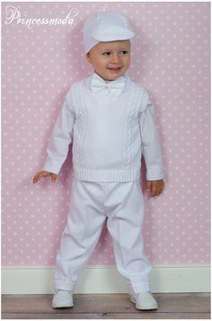 """Taufanzug """"ALEX"""" mit Pullunder in weiß!"""
