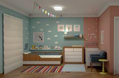 Projeto do Escritório Atelier da Reforma - Quarto de menino e menina.