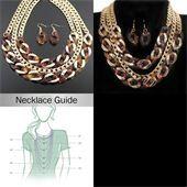 Tortoise Layered Chain Fashion Necklace Set