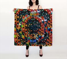 '' Flower of life '' Large Square Scarf preview