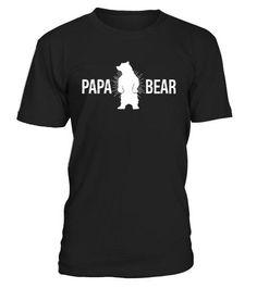 Papa Bear T Shirts Fathers Day Gifts Bear T Shirt, Fathers Day Gifts, Mens Tops, Shirts, Shopping, Father's Day Gifts, Shirt, Top, Dress Shirt