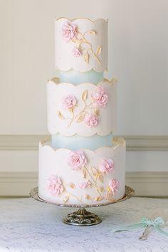 pretty pastel cake by FlourGarden