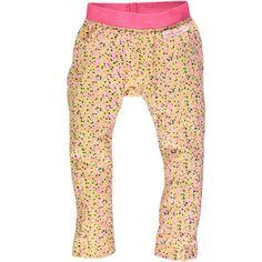 Geel/roze legging met fantasieprint van Moodstreet   Olliewood