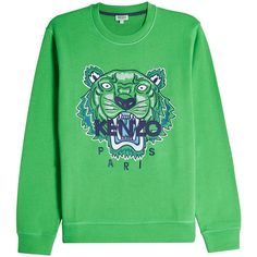 Kenzo Embroidered Cotton Sweatshirt ($219) ❤ liked on Polyvore featuring tops, hoodies, sweatshirts, black, kenzo sweatshirts, embroidery top, kenzo, embroidered cotton top and kenzo top
