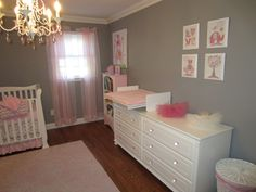 Project Nursery - Pink and Gray Classic Nursery Changer