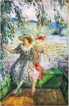 Henri Lebasque, La Partie de Pêche, 1915. on ArtStack #henri-lebasque #art