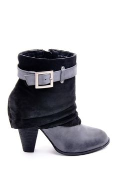 Buckle Detail Ankle Bootie