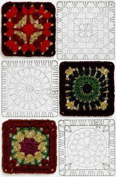 Terrific No Cost Granny Squares Pattern diagram Tips This specific easy granny sq pattern is a variance about the basic crochet nana square. Motifs Granny Square, Crochet Motifs, Granny Square Crochet Pattern, Crochet Diagram, Crochet Chart, Crochet Squares, Crochet Stitches, Granny Squares, Free Crochet