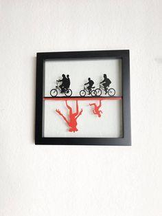The Upside Down Framed Vinyl | Stranger Things | Hawkins | Demogorgon | Wall Art | Decor | Picture | Poster | Eleven | Birthday | Gift by SwordandWhetstone on Etsy https://www.etsy.com/listing/556044982/the-upside-down-framed-vinyl-stranger