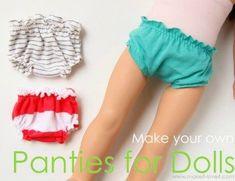 Free pattern for making doll panties.