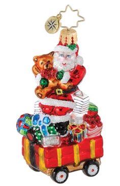 Well Stocked Wagon Gem Radko Ornament Personalized