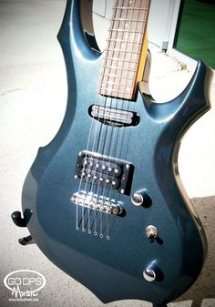 The LTD F-10 is perfect for rock and metal with its distinctive angled shape and Gun Smoke Blue finish. Comes with Cable, Strap, Stand, DVD, Tuner, Picks & ESP Gig Bag at GoDpsMusic.com #ESP #guitars