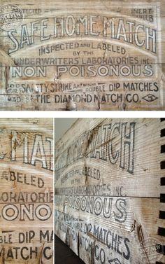 Vintage Wood Sign