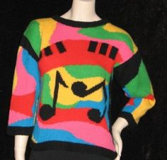 Electro 80's jumper 80s Fashion, Vintage Fashion, Fashion Outfits, Womens Fashion, Sweater Tank Top, Cardigan Outfits, Vintage Knitting, Sweater Fashion, Vintage Patterns
