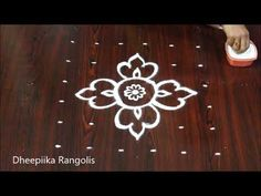 Easy rangoli design with dots for beginners l friday kolam designs l latest muggulu patterns SIMPLE RANGOLI EASY RANGOLIS small muggulu 6 dots kolams 6 D. Best Rangoli Design, Rangoli Designs Images, Rangoli Designs With Dots, Rangoli With Dots, Beautiful Rangoli Designs, Simple Rangoli, Easy Rangoli Patterns, Rangoli Colours, Kolam Dots