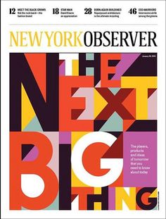 Some great type covers New York Observer Artwork Carlos Zamora Click here for more covers New York Observer on Coverjunkie
