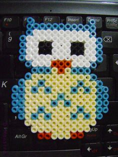 Owl hama beads by Monstra