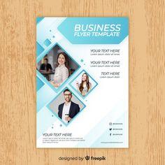 Modèle de flyer professionnel Vecteur gratuit Leaflet Template, Powerpoint Design Templates, Business Flyer Templates, Brochure Template, Business Card Design, Book Design Layout, Book Cover Design, Modele Flyer, Conference Poster Template