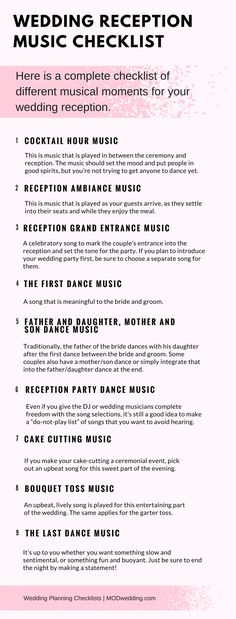 how to plan your wedding reception music printable list i do me